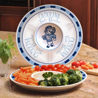 University of North Carolina Gameday Ceramic Chip and Dip Server