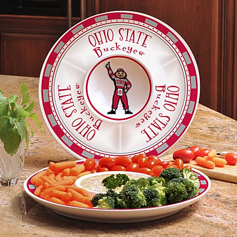 Ohio State Gameday Ceramic Chip and Dip Server