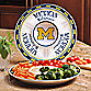 University of Michigan Gameday Ceramic Chip and Dip Server