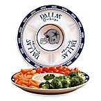 Dallas Cowboys Gameday Ceramic Chip and Dip Server