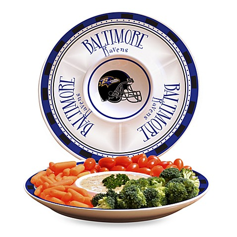 NFL Baltimore Ravens Game Day Chip and Dip Server