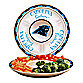 Carolina Panthers Gameday Ceramic Chip and Dip Server