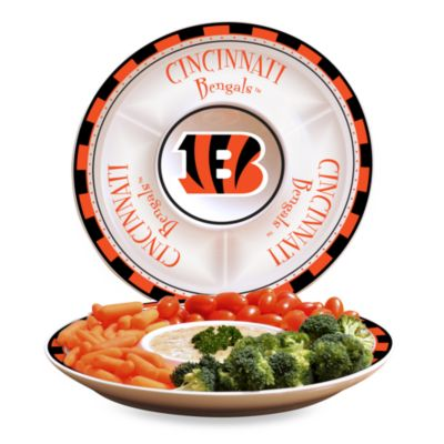 Cincinnati Bengals Gameday Ceramic Chip and Dip Server