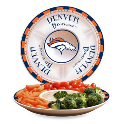 Denver Broncos Gameday Ceramic Chip and Dip Server