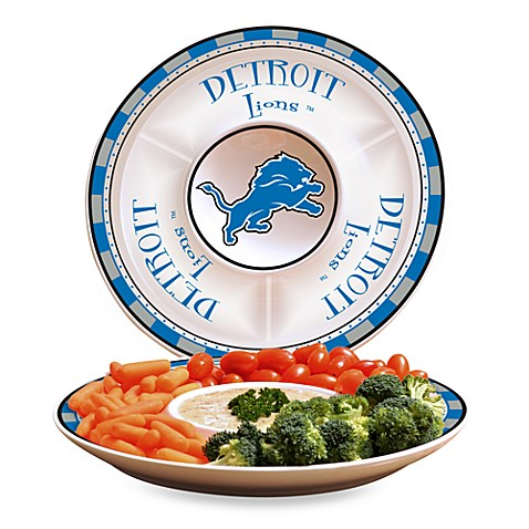 NFL Detroit Lions Game Day Chip and Dip Server