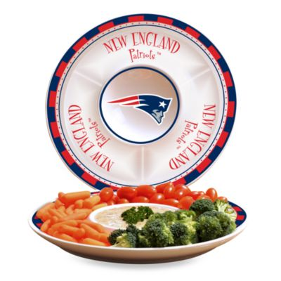 NFL New England Patriots Game Day Chip and Dip Server
