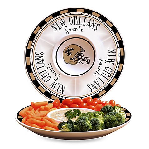 NFL New Orleans Saints Game Day Chip and Dip Server
