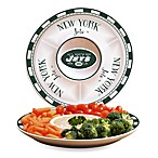New York Jets Gameday Ceramic Chip and Dip Server