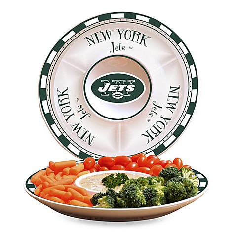 NFL New York Jets Game Day Chip and Dip Server