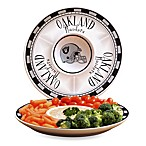 Oakland Raiders Gameday Ceramic Chip and Dip Server