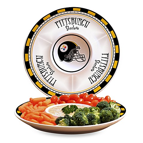 NFL Pittsburgh Steelers Game Day Chip and Dip Server