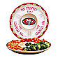 San Francisco 49ers Gameday Ceramic Chip and Dip Server