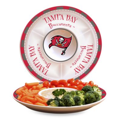 Tampa Bay Buccaneers Gameday Ceramic Chip and Dip Server