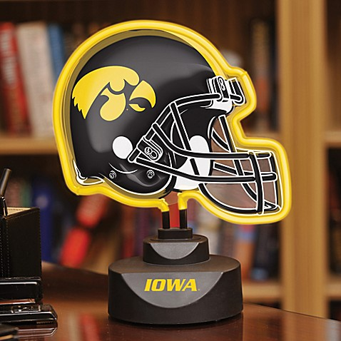 University of Iowa Neon Helmet Light
