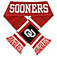 University of Oklahoma Team Stripe Scarf