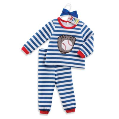 Mud Pie™ Baseball Loungewear Set in 12 to 18 Months