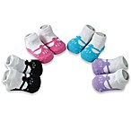 AD Sutton T-Strap Flower 4-Pack Size 0 to 6 Months Sock Gift Set