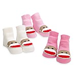 Baby Starters® Sock Monkey 3-Pack Socks in Girl