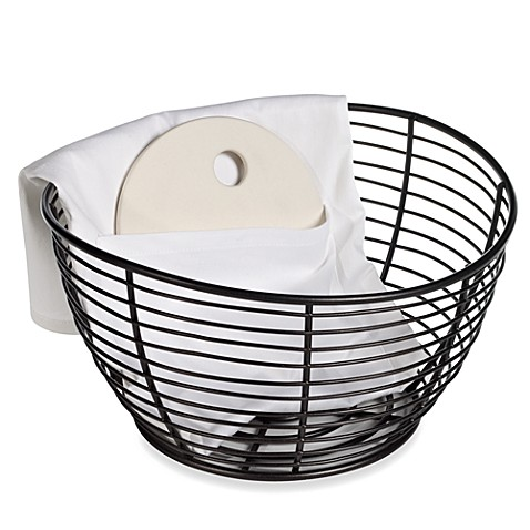 B. Smith Bread Warming Basket with Warming Stone and Slip Cover