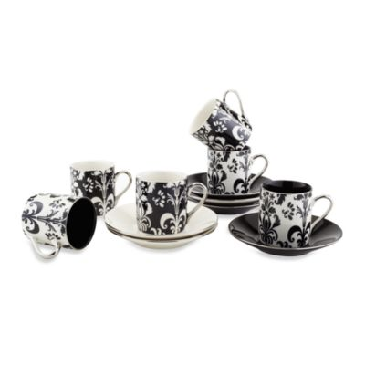 Classic Coffee & Tea Nouveau Chic 12-Piece Expresso Set