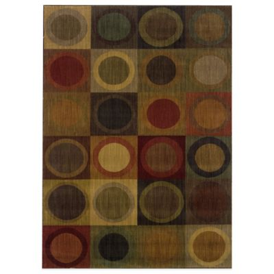 Oriental Weavers Allure 5-Foot 3-Inch x 7-Foot 6-Inch Porthole Area Rug