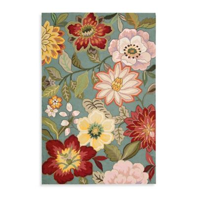 Flowers Rug to Pad