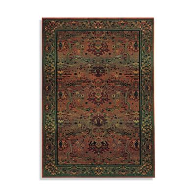 Oriental Weavers 4-Foot x 5-Foot 9-Inch Kharma Area Rug in Green