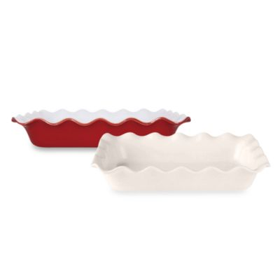 Emile Henry 10-Inch x 14-Inch Ruffled Rectangular Bakers