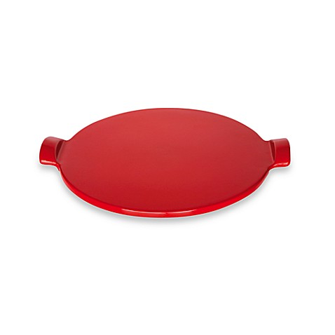 Emile Henry 12-Inch Diameter Pizza Stone in Red