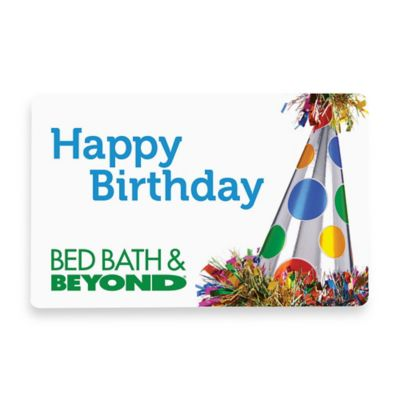 """Happy Birthday"" Party Hat Gift Card $50"