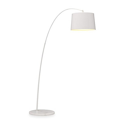 Zuo® Accents Twisty Floor Lamp in White
