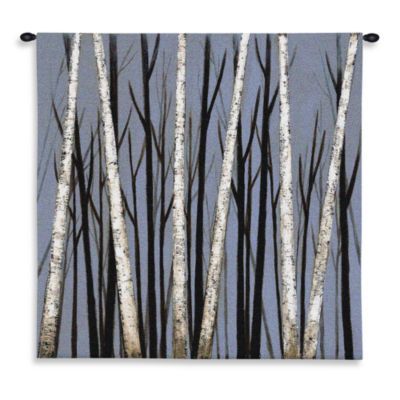 Pure Country Birch Shadows Tapestry