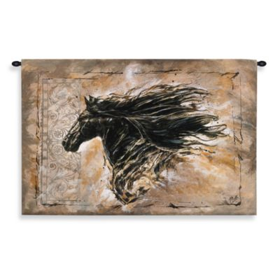 Pure Country Black Beauty Tapestry - 38-Inch x 26-Inch