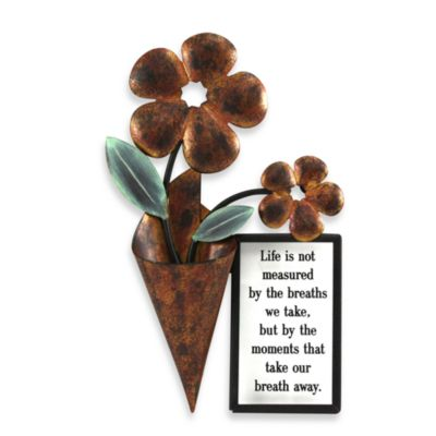 """Life Is Not Measured..."" 6-Inch x 9-Inch Metal Wall Art"