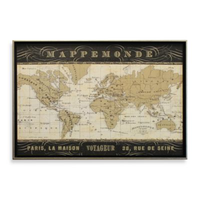 French Map 26-Inch x 38-Inch Wall Art
