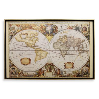 Large Old World Map Wall Art