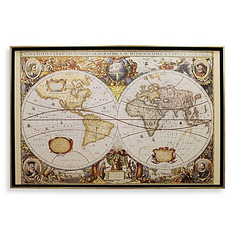 Large Old World Map Wall Art Bed Bath Beyond