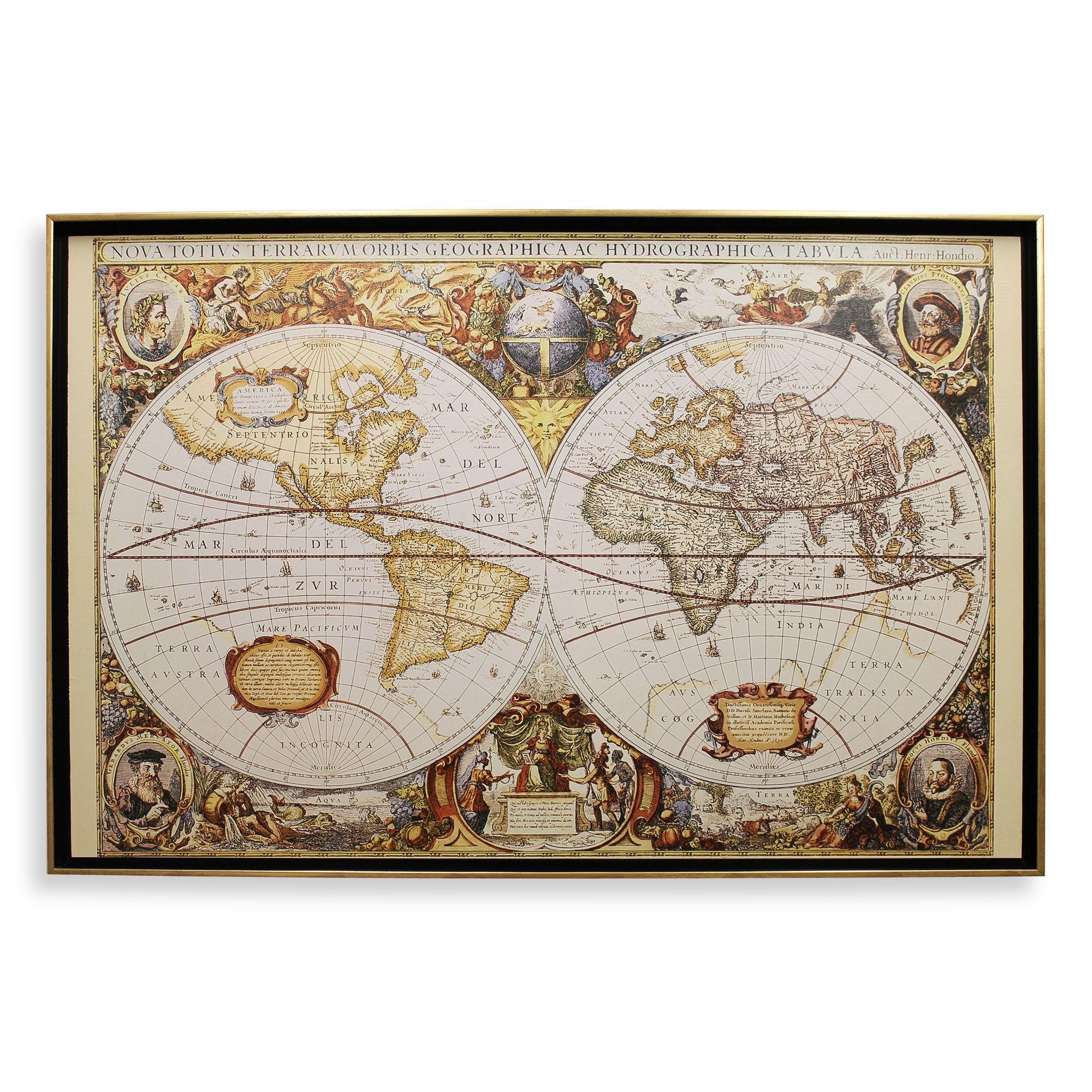 Large World Map Art Large Old World Map Wall Art