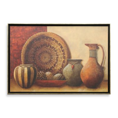 Basket and Vessels 28-Inch x 40-Inch Wall Art