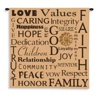 Pure Country 31-Inch x 30-Inch Family Values Tapestry