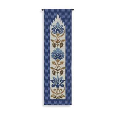 Pure Country Ikat Indigo 25-Inch x 88-Inch Tapestry