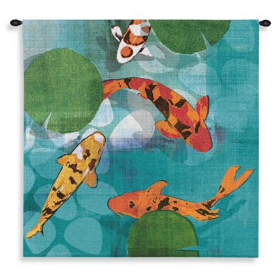 Pure Country Lucky Koi 52-Inch x 49-Inch Tapestry
