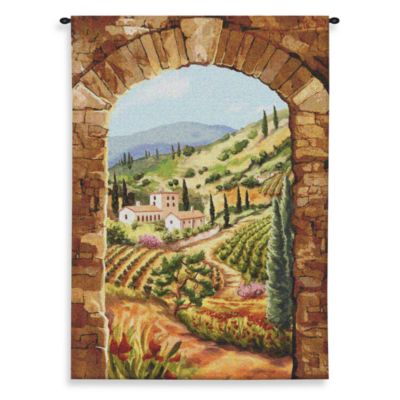 Pure Country Tuscan Vineyard 64-Inch x 90-Inch Tapestry
