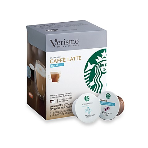Starbucks® Verismo™ 16-Count Decaf Caffe Latte Pods