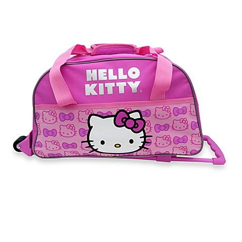 Hello Kitty Rolling Duffel Bag