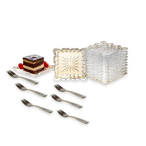 Alexandria Crystal Mini Taster Plates 25-Piece Set