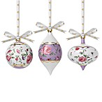 Royal Albert New Country Roses Confetti Ornaments Set of 3