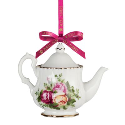 Royal Albert Old Country Roses Teapot Ornament