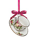 Royal Albert Old Country Roses Teacup & Saucer Ornament