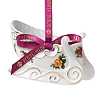 Royal Albert Old Country Roses Sleigh Ornament